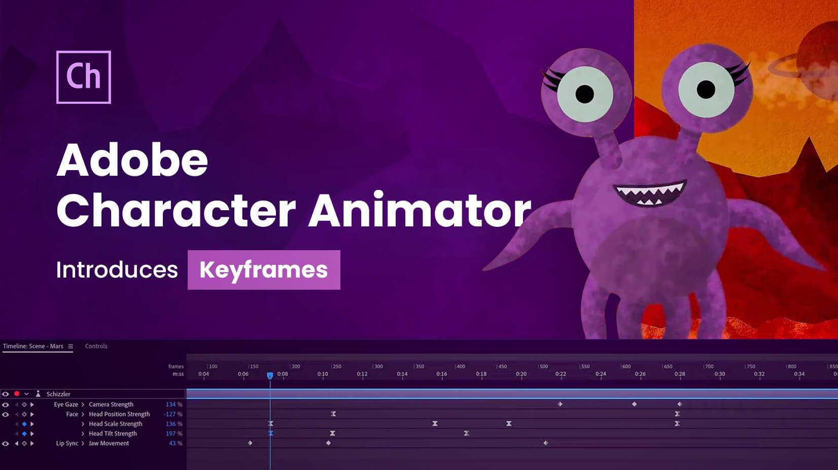 Adobe Character Animator Adds New Feature - Keyframes in 2020 update