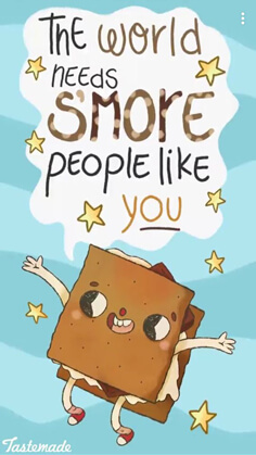 valentines day card funny food: the world needs s'more people like you