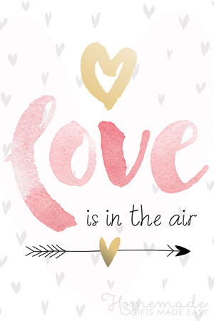 Typography-based Valentine's day card designs: Love is in the air