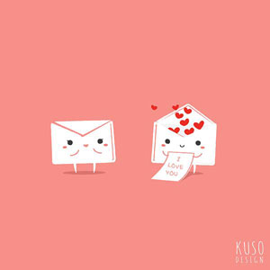 fun Valentine's day card designs: love envelopes