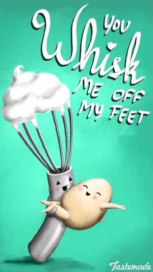 fun Valentine's day card designs: you whisk me off my feet