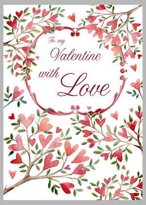 Valentine's day card designs: with heart trees