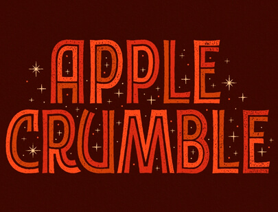 Retro Typography Designs - Apple-Crumble