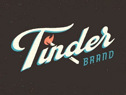 Retro Typography Designs - Tinder-Matches