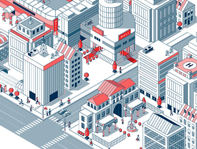 Amazing Isometric illustration styles - World of Venuex Illustration