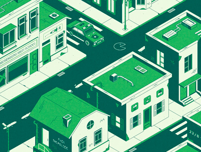 Amazing Isometric illustration styles - 420 CITY illustration