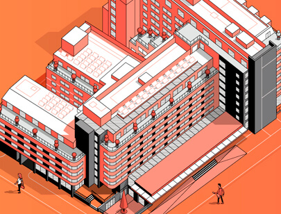 Amazing Isometric illustration styles - London SPECTRUM Map illustration