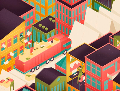 Amazing Isometric illustration styles - Money-Magazine