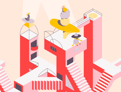 Amazing Isometric illustration styles - Isometric-Stairs-illustration