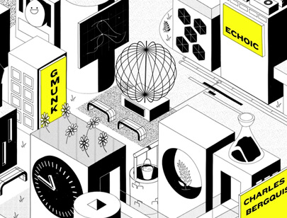 Amazing Isometric illustration styles - Barcelona-2020-Festival-Opener-animated-illustration