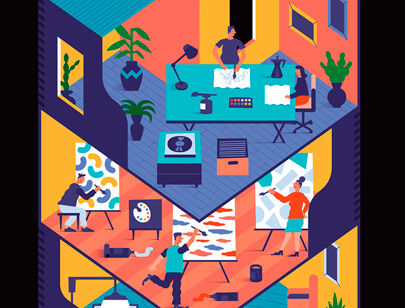 Amazing Isometric illustration styles - Czołowski-illustration