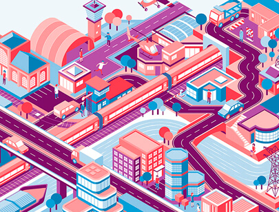 Amazing Isometric illustration styles - UVEK-isometry-website-illustration