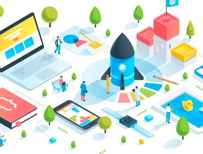 Amazing Isometric illustration styles - Isometric-high-tech-City