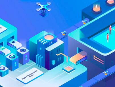 Amazing Isometric illustration styles - Hero-concept-animated-illustration