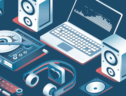 Amazing Isometric illustration styles - Music-Production-Illustration