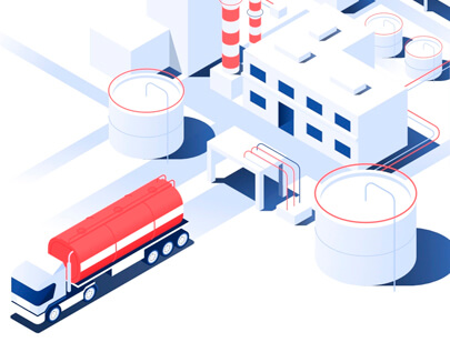 Amazing Isometric illustration styles - Fuel-Company-D-T-5-Illustration