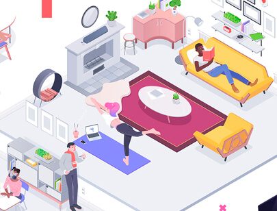 Amazing Isometric illustration styles - Rocketboy-2018