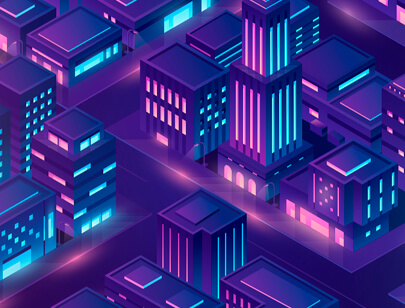 Amazing Isometric illustration styles - futuristic-city-illustration