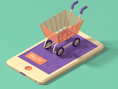 Amazing Isometric illustration styles - Shopping-cart