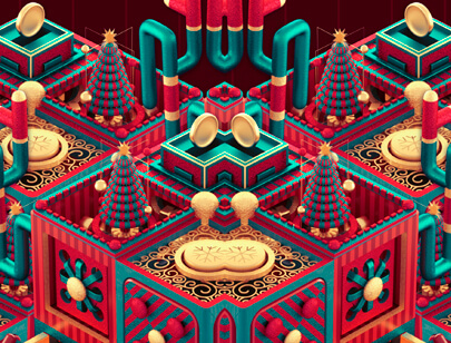 Amazing Isometric illustration styles - FESTIVE-ART