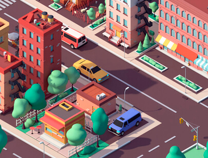Amazing Isometric illustration styles - Low-Poly-American-Dream-illustration