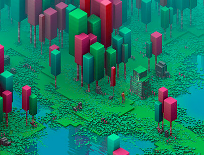 Amazing Isometric illustration styles - Isometric-Swamp