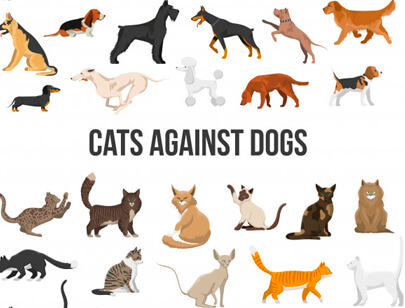 free animal clipart collection - breed set dogs and cats