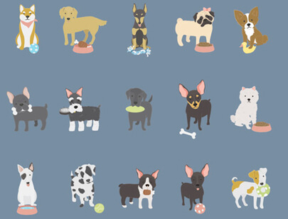 free animal clipart collection - illustration dogs collection