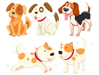 free animal clipart collection - different kind of puppy dogs