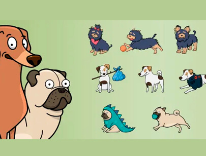 free animal clipart collection - vector dogs clipart