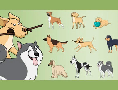 free animal clipart collection - vector dogs vol 4