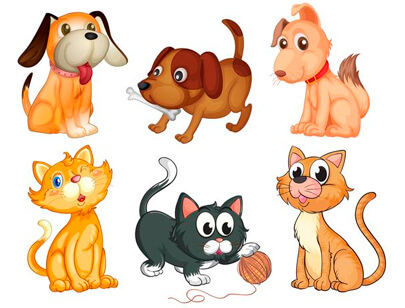 free animal clipart collection - lovable pets clipart