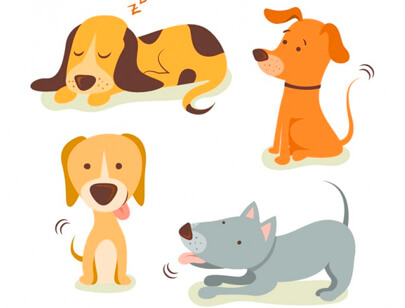 free animal clipart collection - cute illustrations dogs