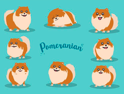 free animal clipart collection - free-cartoon pomeranian vector clipart