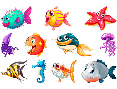 free animal clipart collection - set sea creature