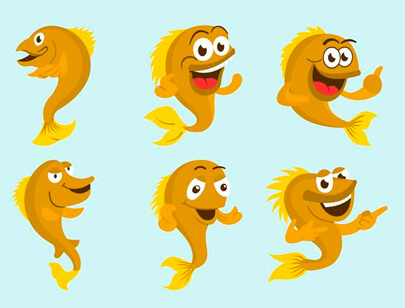 free animal clipart collection - walleye-cartoon-vector-clipart