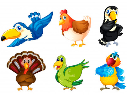 free animal clipart collection - flying birds clipart