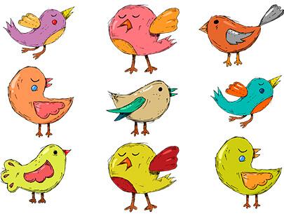 free animal clipart collection - bird kids branch children