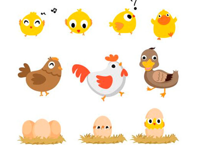 free animal clipart collection - animals vector character design