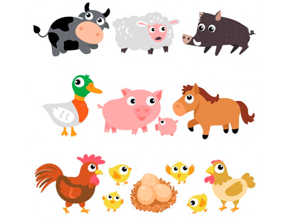 free animal clipart collection - farm animals collection