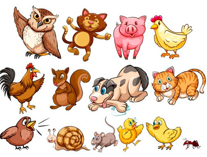 free animal clipart collection - different type of farm animal