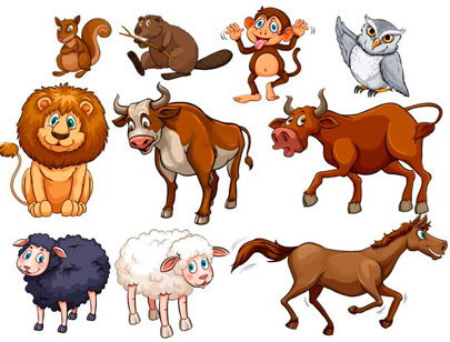 Great Free Animal Clipart For Your Next Cartoon Design Graphicmama