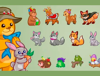 free animal clipart collection - vector forest animals