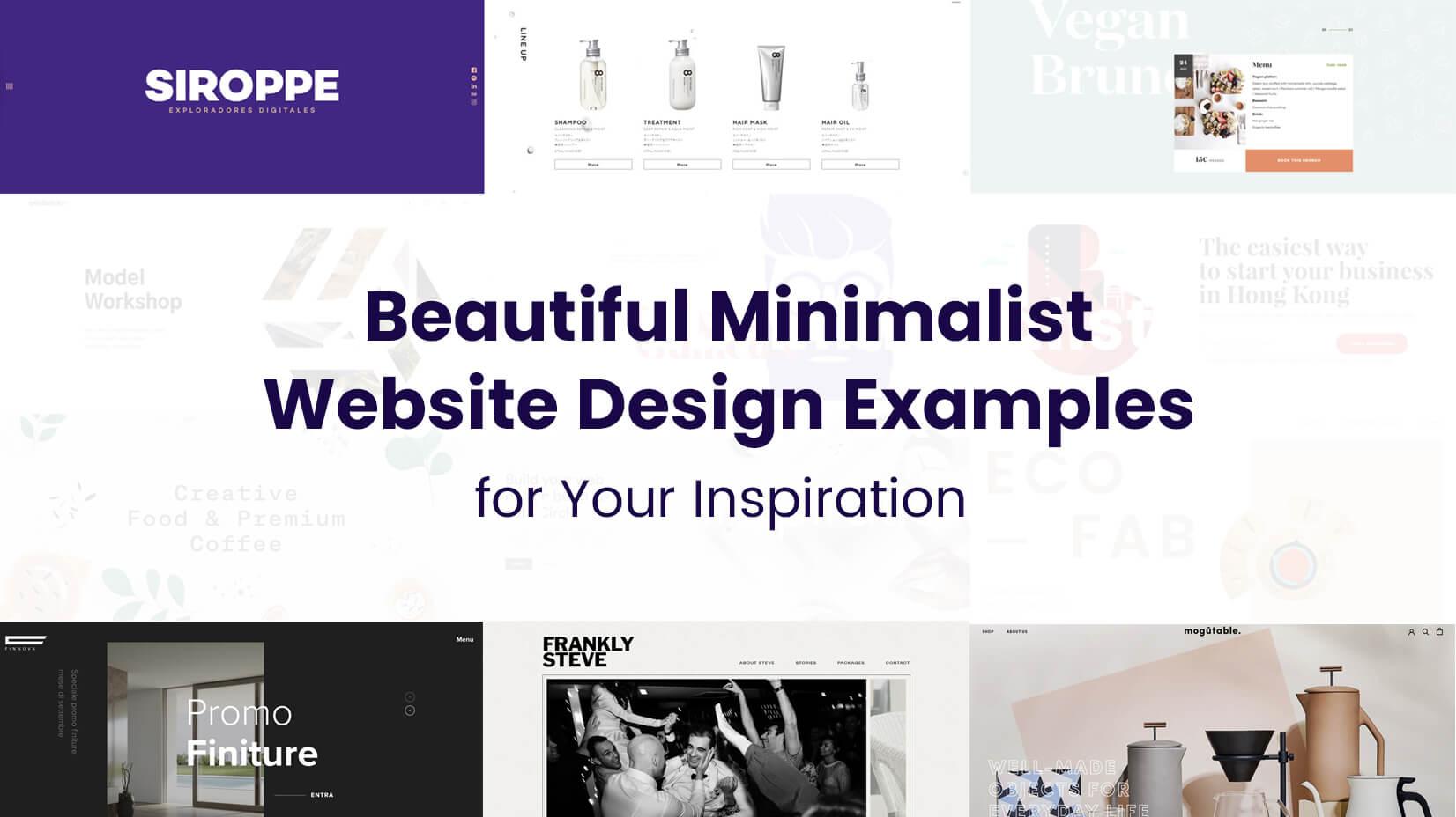 The Best Minimalist Website Designs