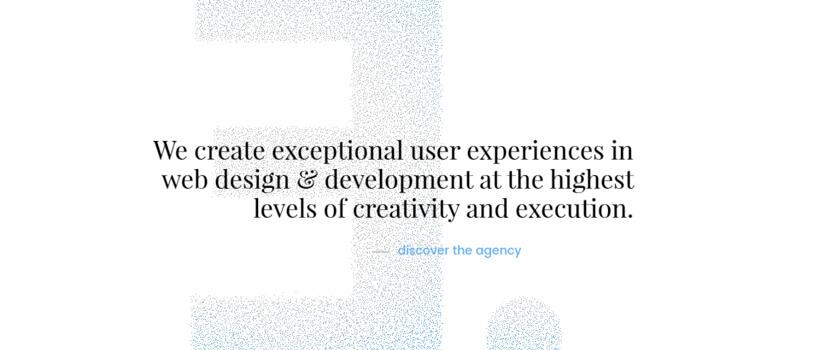 Minimalist website design - blenddigital