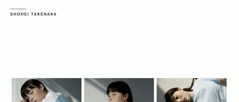 Minimalist website design - shoheitakenaka