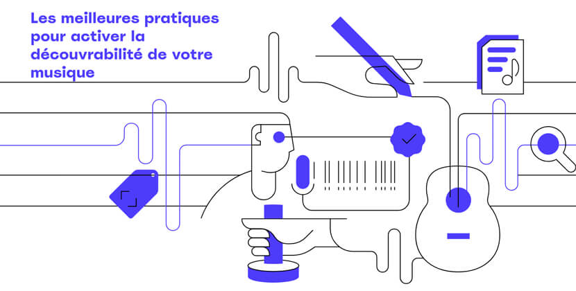 metamusique - website with great linear illustrations