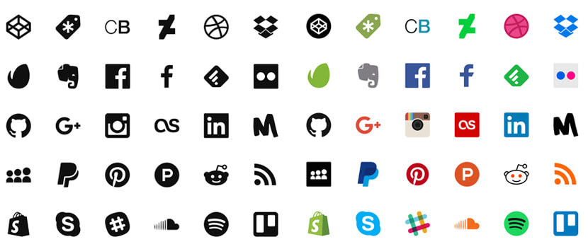 social media free icon pack