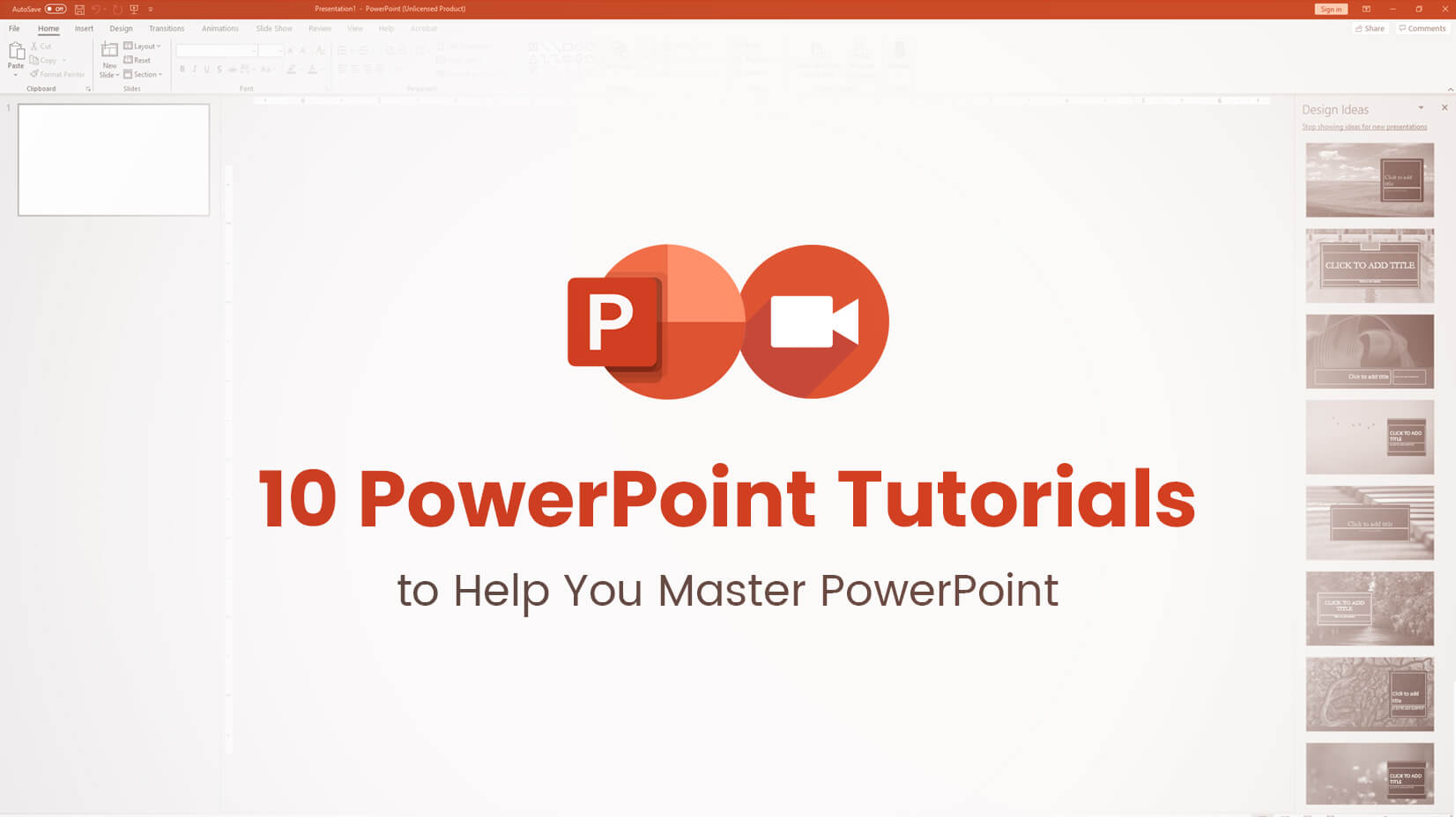 10 PowerPoint Tutorials to master PowerPoint