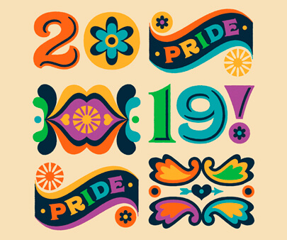 Happy Pride - creative typography inspirational design